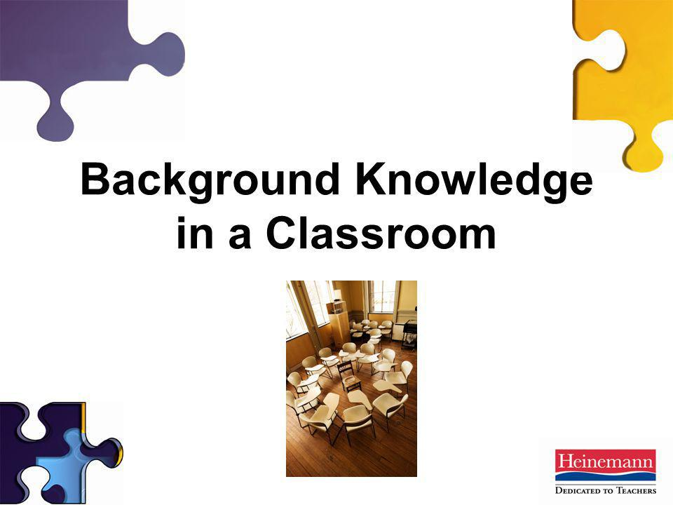 Background Knowledge in a Classroom