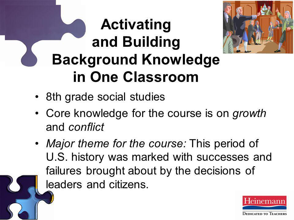 Activating and Building Background Knowledge in One Classroom
