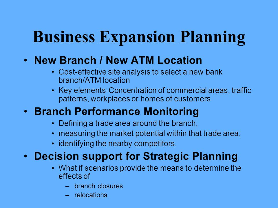 Business Expansion Planning
