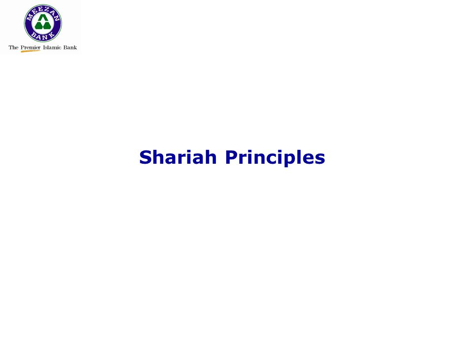 Shariah Principles