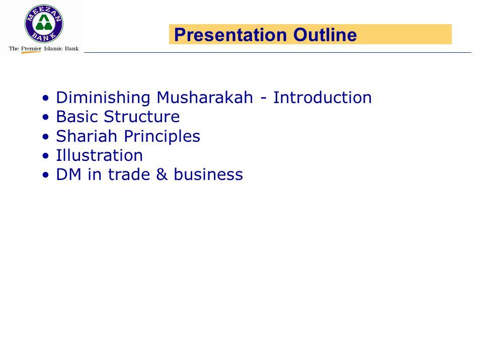 Presentation Outline Diminishing Musharakah - Introduction
