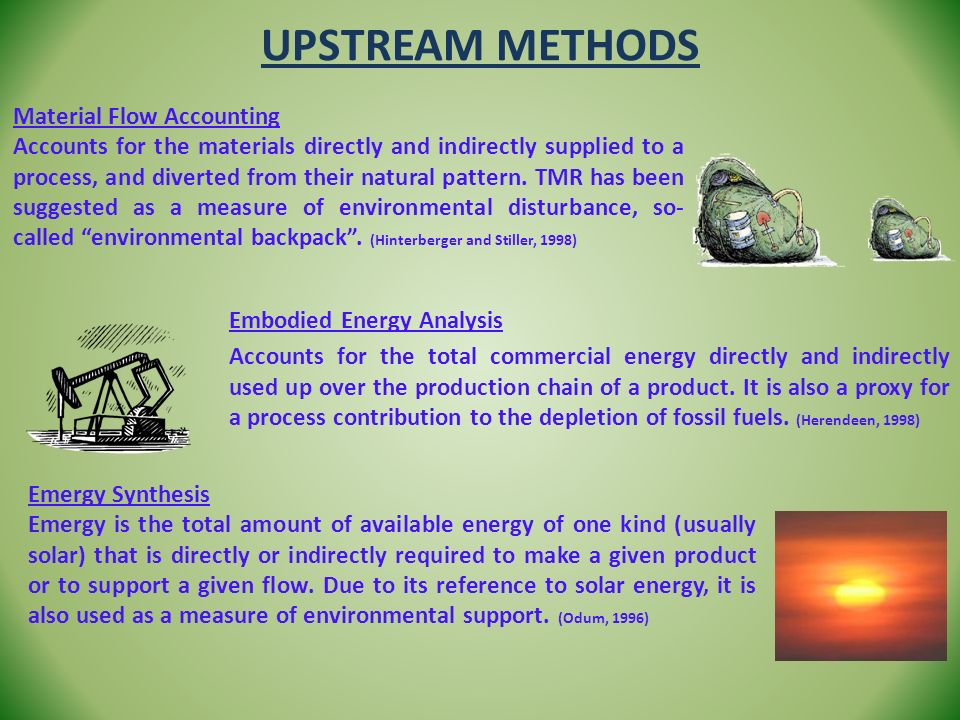 Upstream Methods Material Flow Accounting