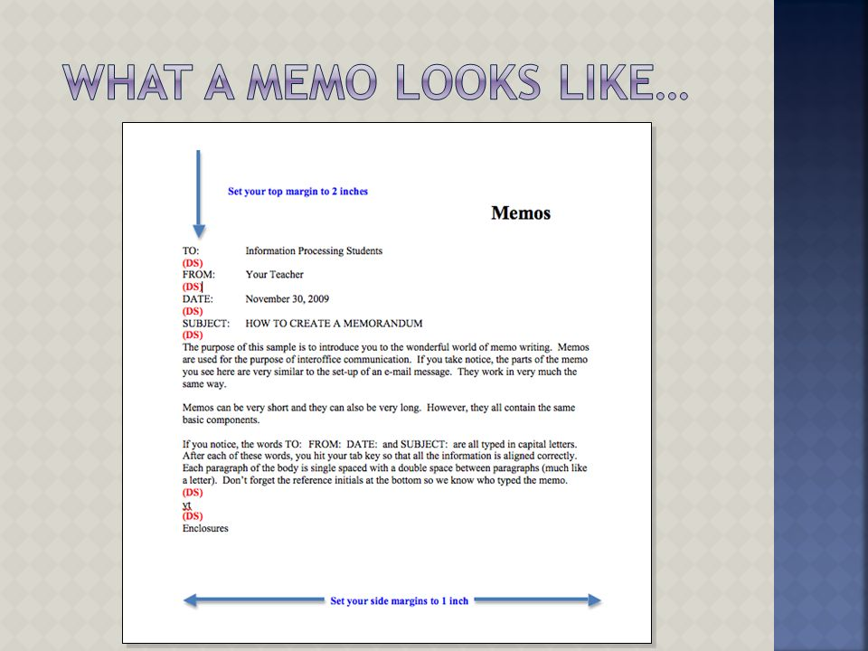 memo and report writing