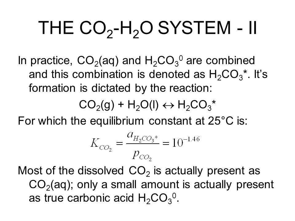 THE CO2-H2O SYSTEM - II