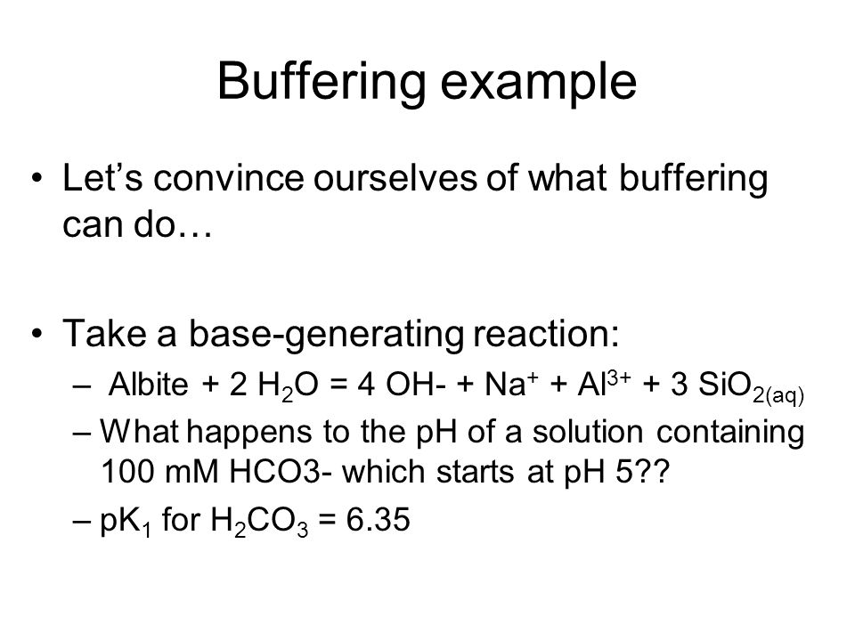 Buffering example Let's convince ourselves of what buffering can do…