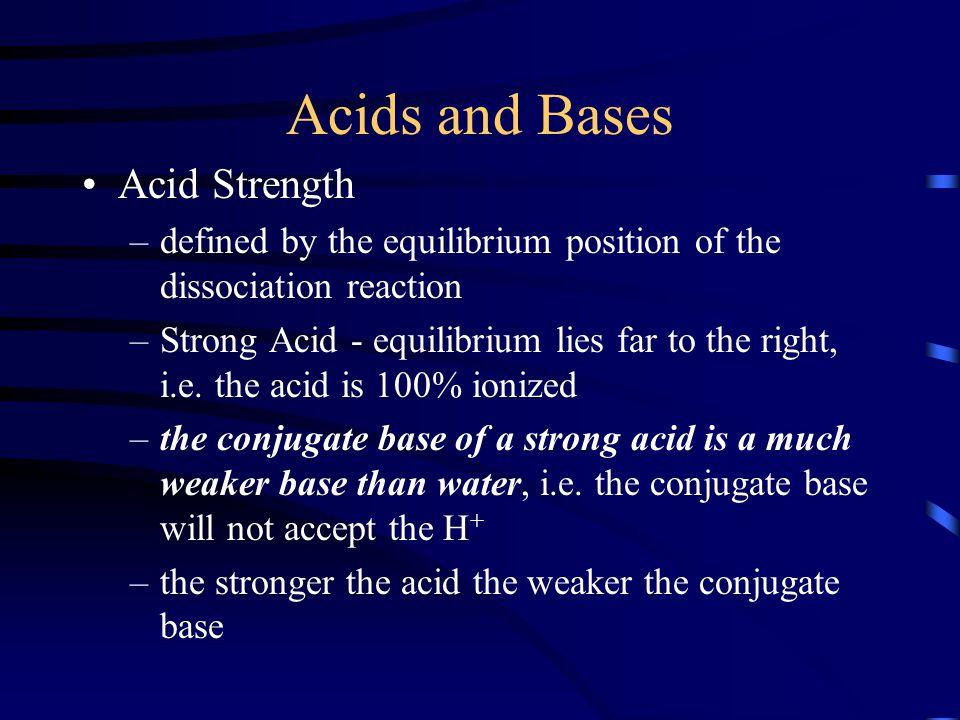 Acids and Bases Acid Strength