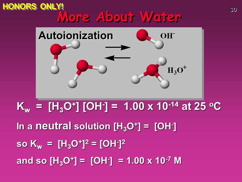 More About Water Autoionization