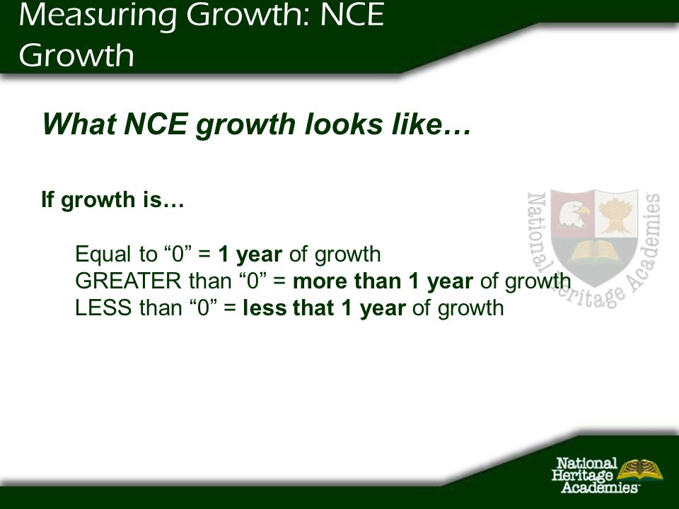 Measuring Growth: NCE Growth
