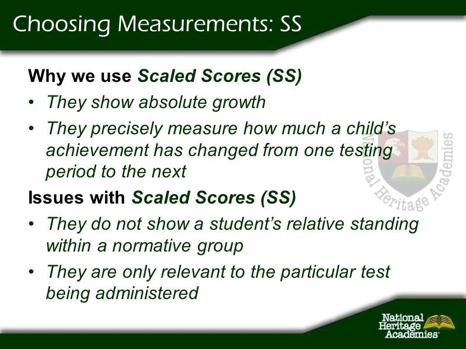 Choosing Measurements: SS
