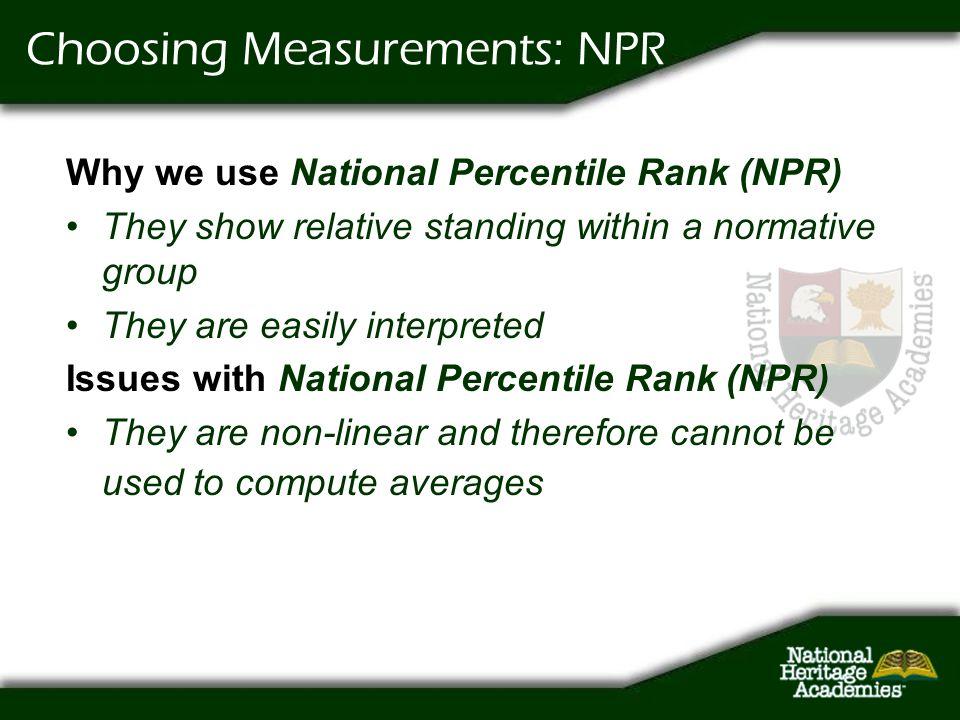 Choosing Measurements: NPR