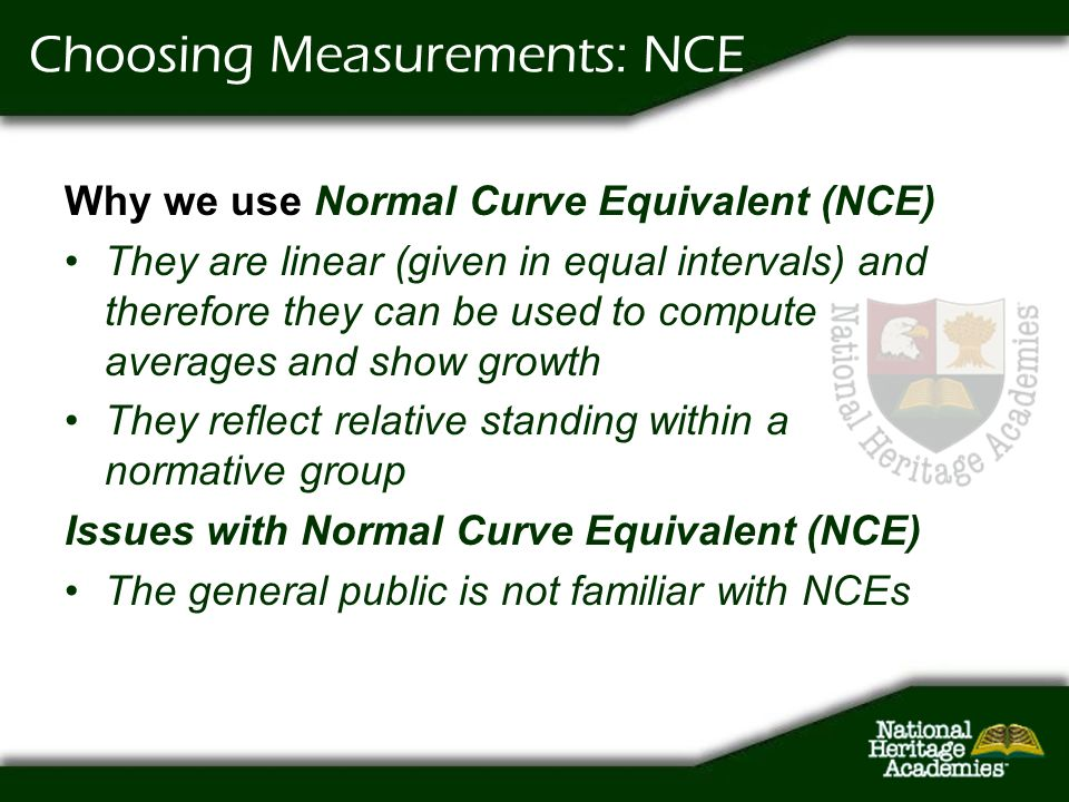 Choosing Measurements: NCE