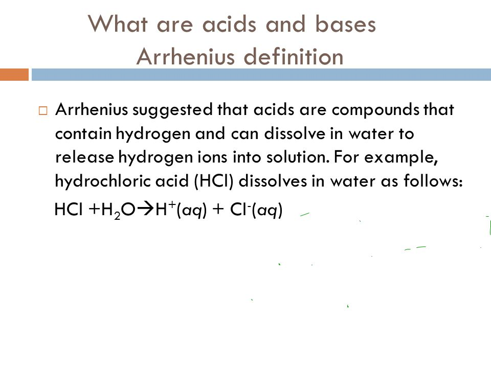 What are acids and bases Arrhenius definition