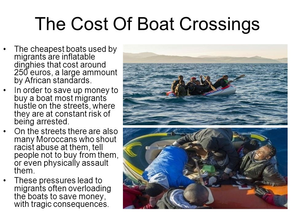 The Cost Of Boat Crossings