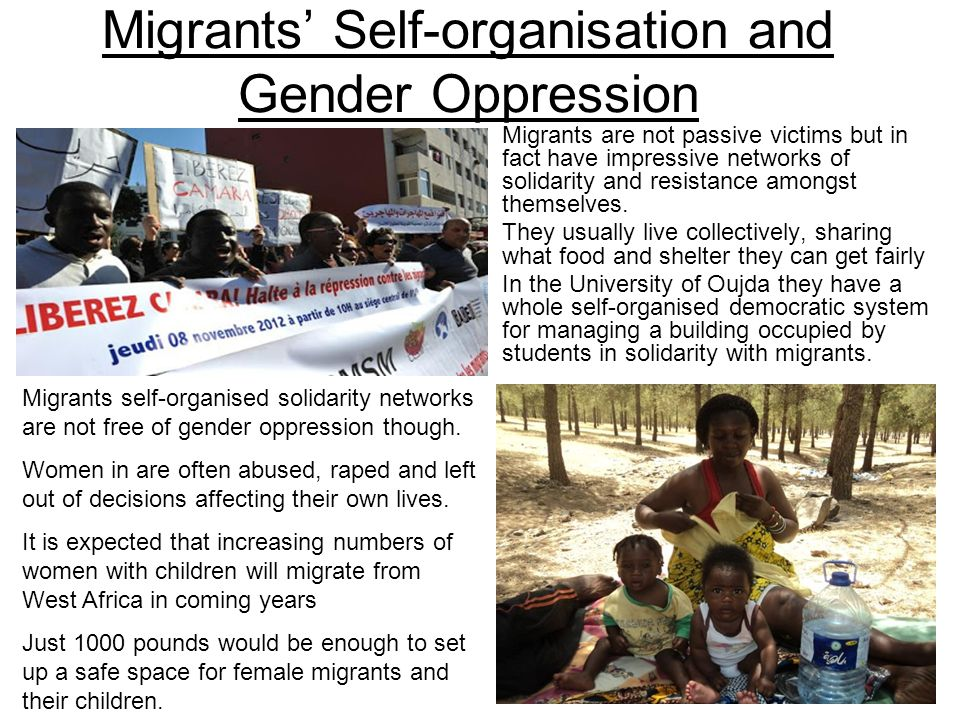 Migrants' Self-organisation and Gender Oppression
