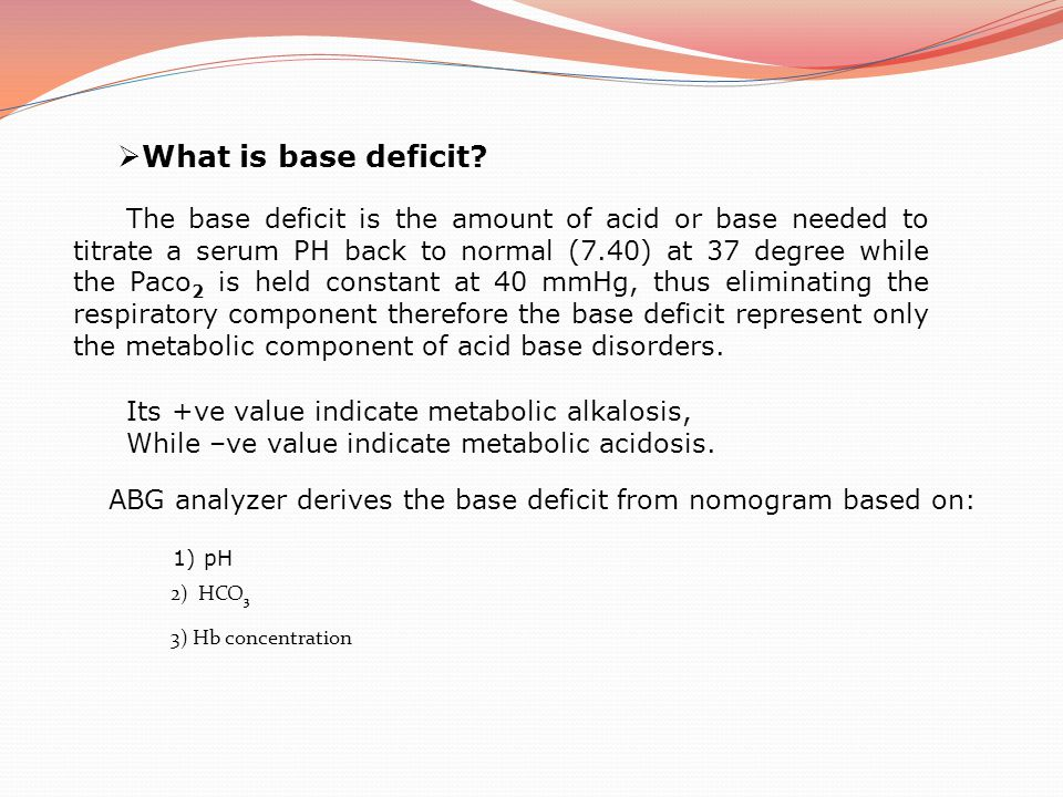 What is base deficit