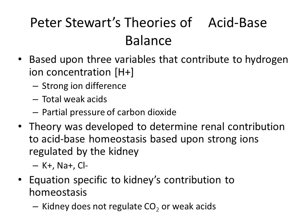 Peter Stewart's Theories of Acid-Base Balance