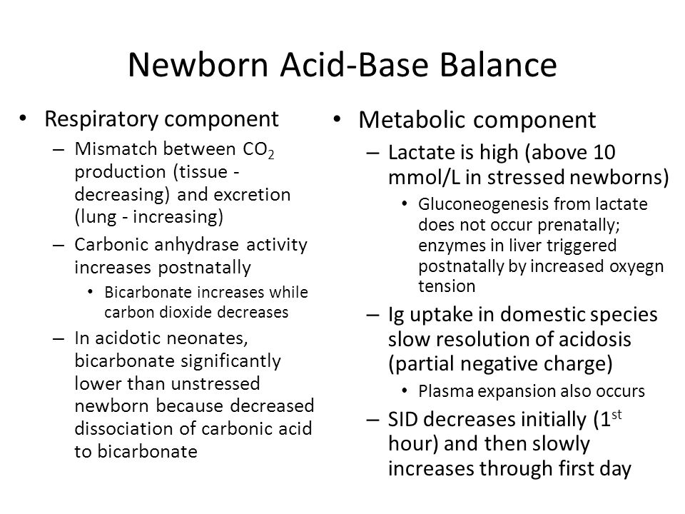 Newborn Acid-Base Balance