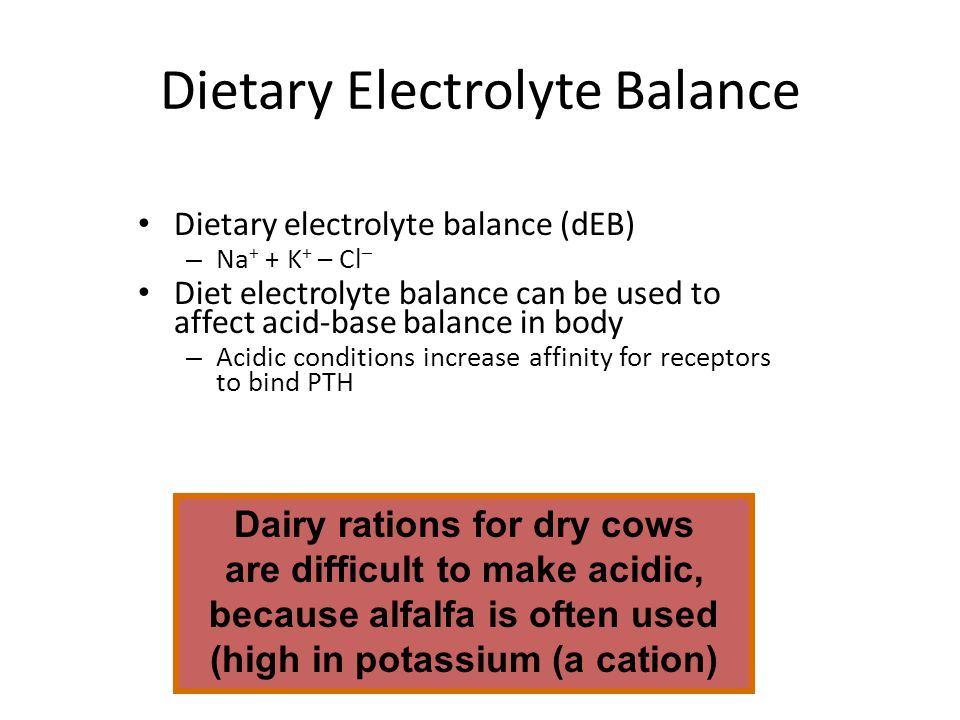 Dietary Electrolyte Balance