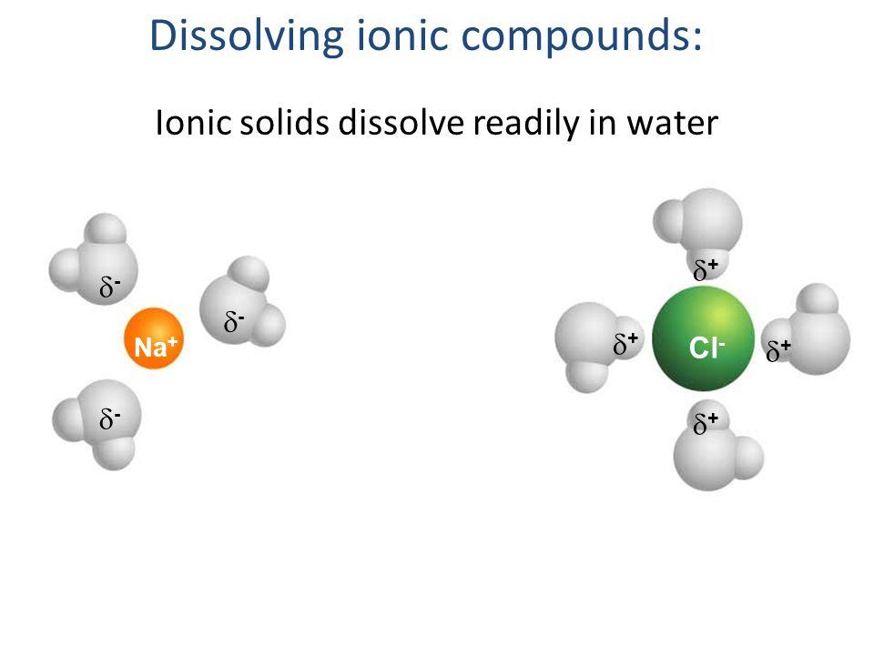 Dissolving ionic compounds: