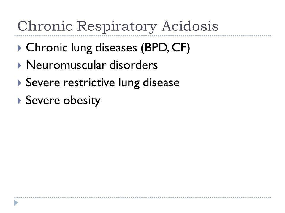 Chronic Respiratory Acidosis