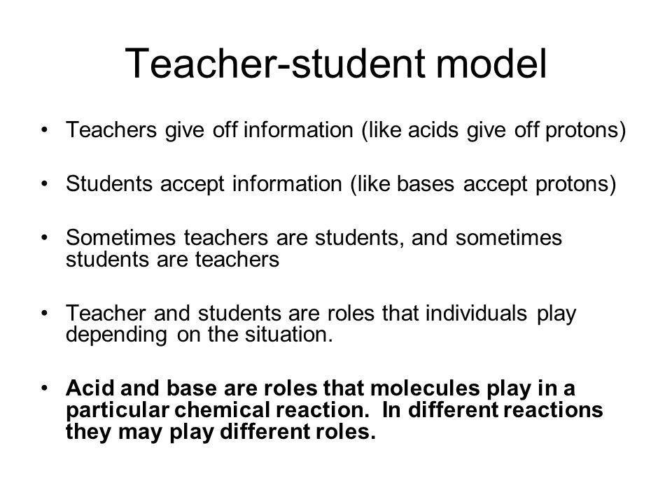 Teacher-student model