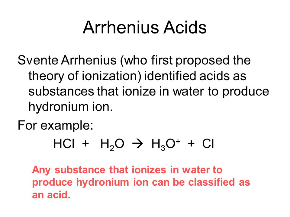 Arrhenius Acids