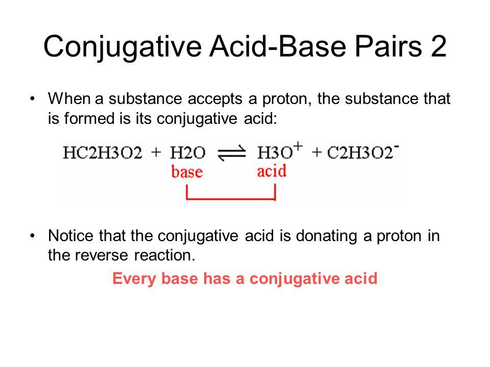 Conjugative Acid-Base Pairs 2