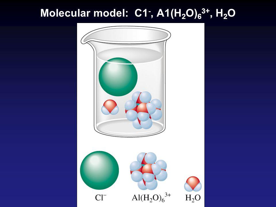 Molecular model: C1-, A1(H2O)63+, H2O