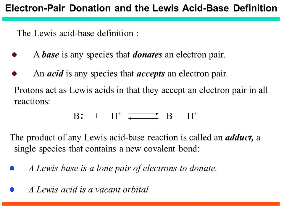 Electron-Pair Donation and the Lewis Acid-Base Definition