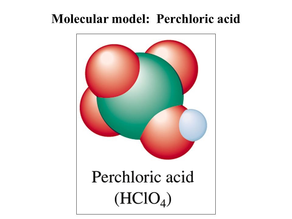 Molecular model: Perchloric acid