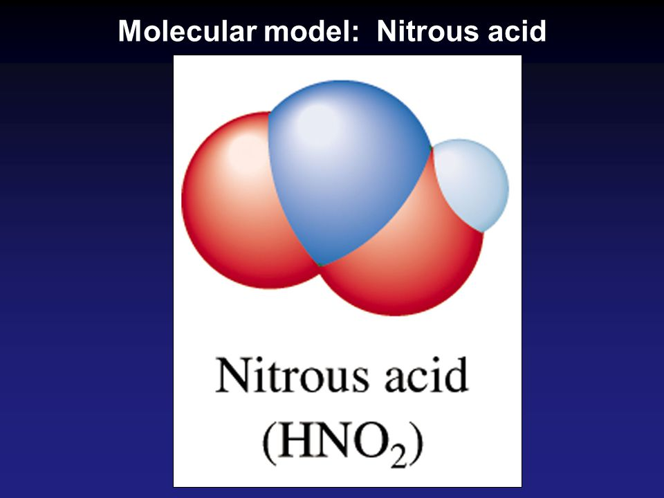 Molecular model: Nitrous acid