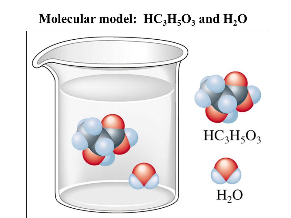 Molecular model: HC3H5O3 and H2O