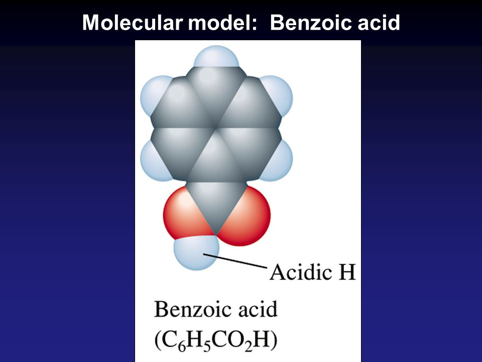 Molecular model: Benzoic acid
