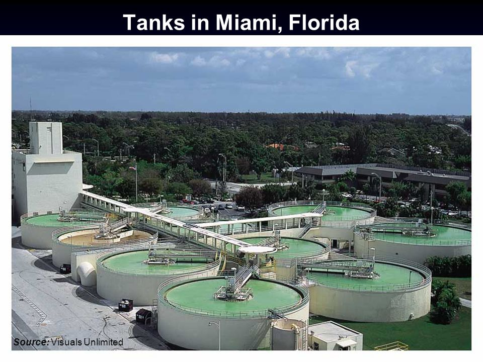 Tanks in Miami, Florida Source: Visuals Unlimited