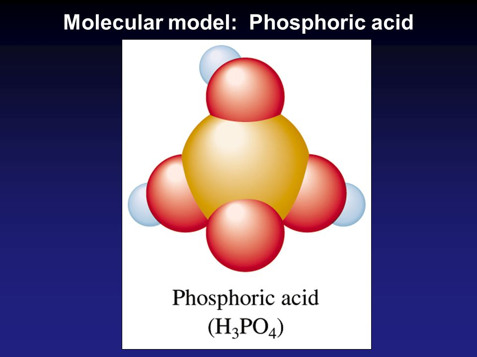 Molecular model: Phosphoric acid