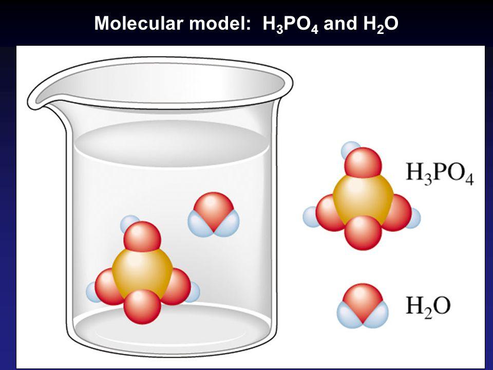 Molecular model: H3PO4 and H2O