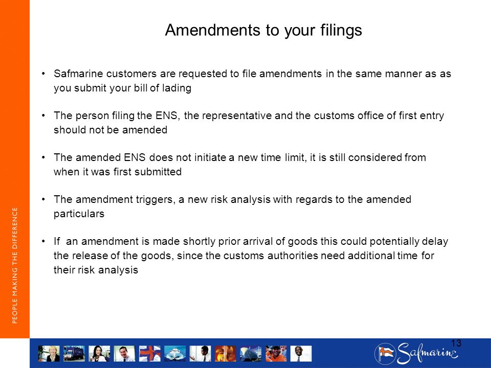 Amendments to your filings