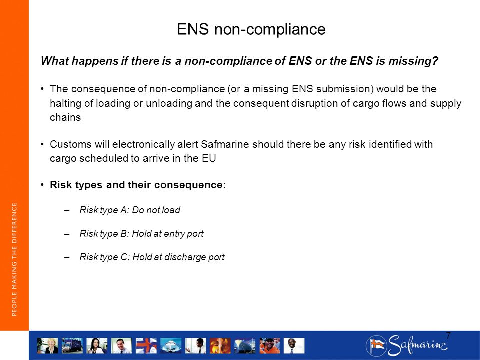 ENS non-compliance What happens if there is a non-compliance of ENS or the ENS is missing