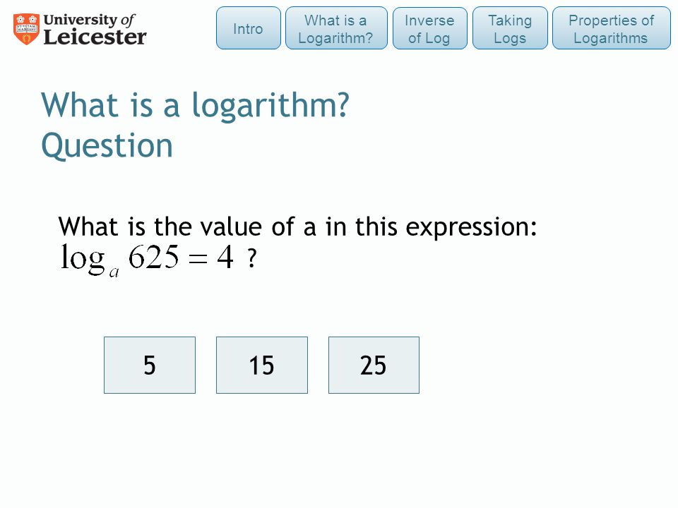 What is a logarithm Question