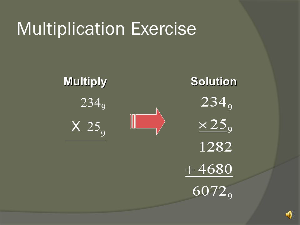 Multiplication Exercise