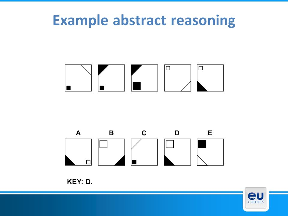 Example abstract reasoning