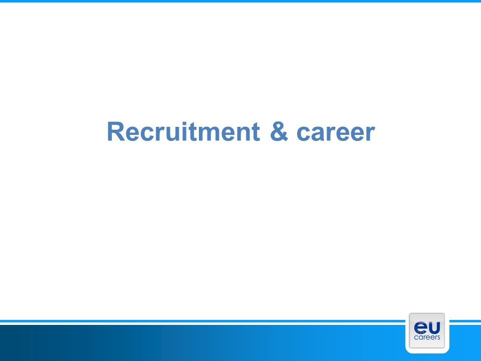Recruitment & career