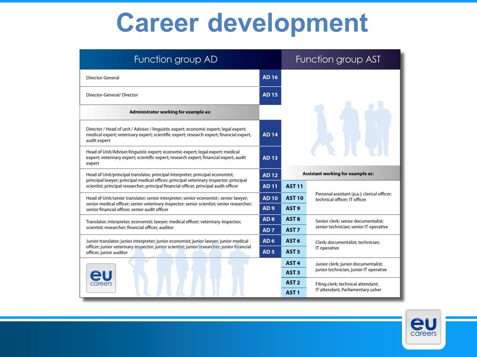 EPSO 25/03/2017 Career development Facultative slide EU career