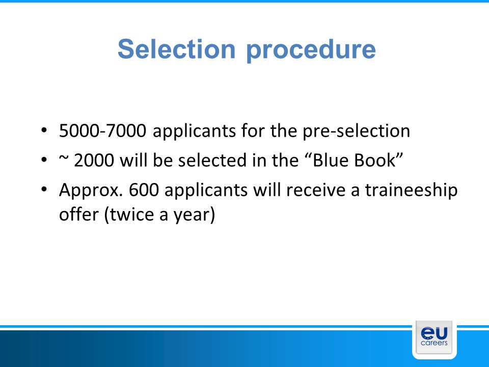 Selection procedure applicants for the pre-selection