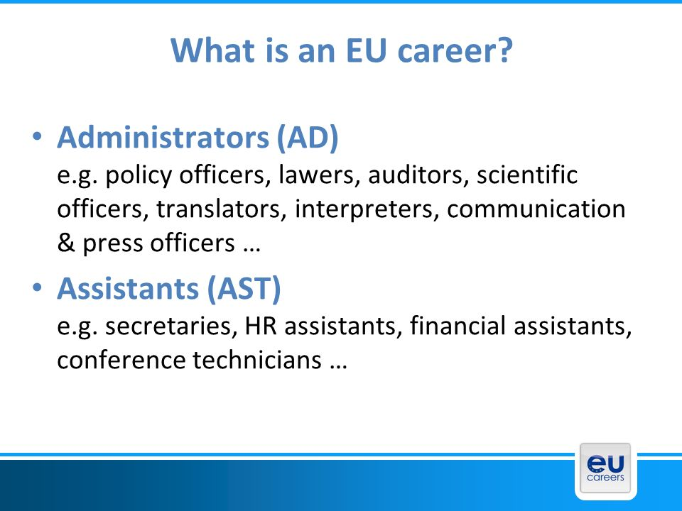 What is an EU career
