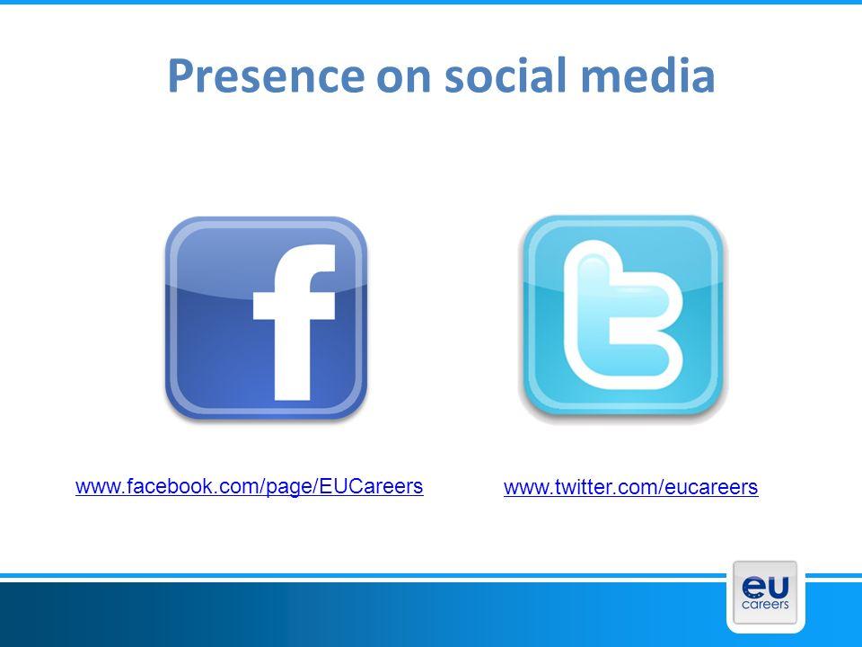 Presence on social media