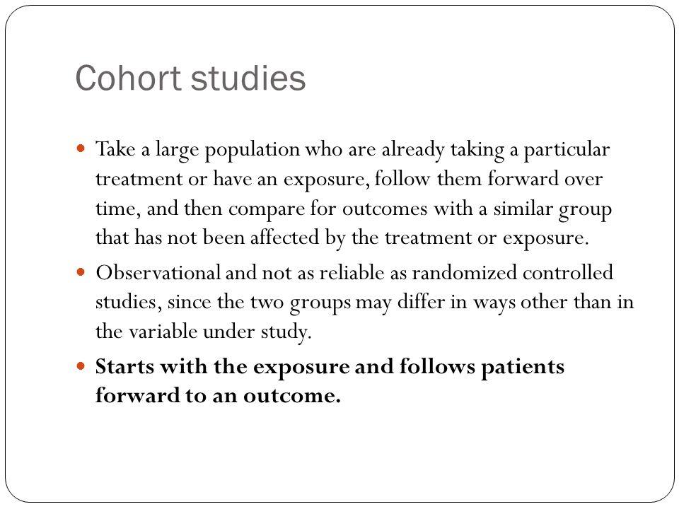 Cohort studies