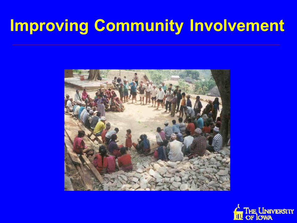 Improving Community Involvement