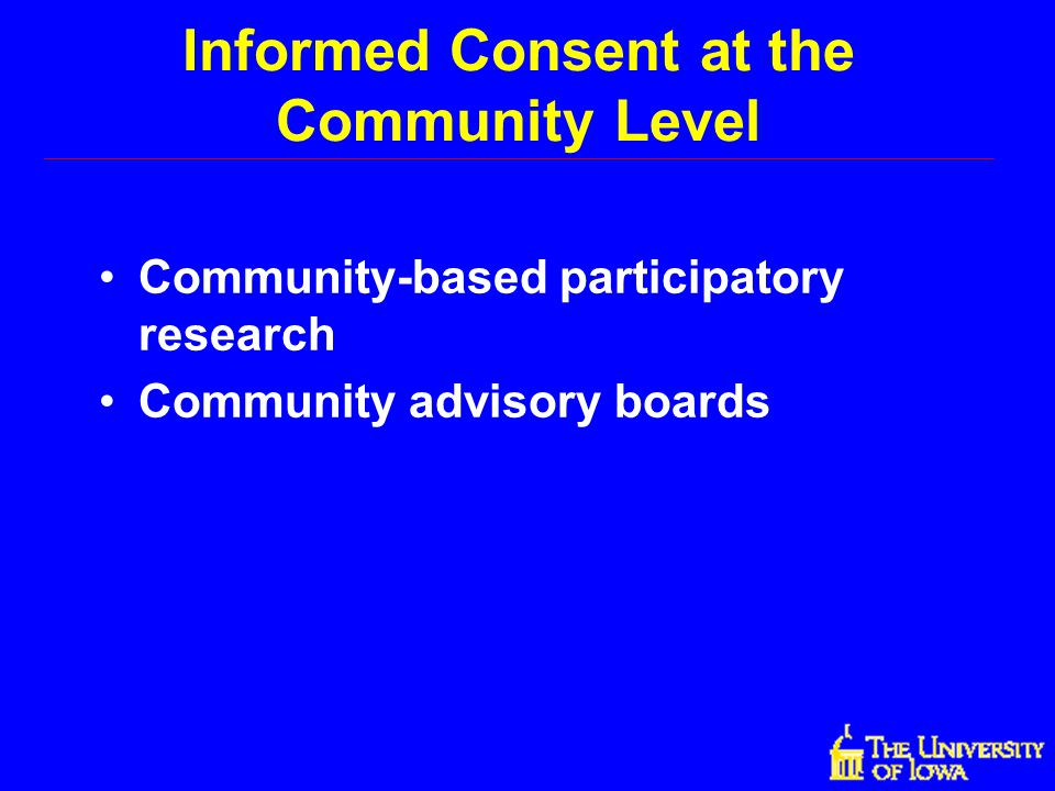 Informed Consent at the Community Level
