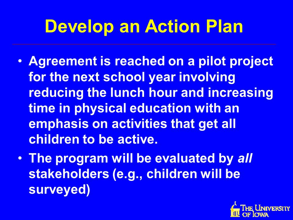Develop an Action Plan